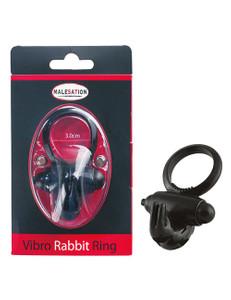 Malesation - Vibro-Rabbit-Ring schwarz Penisring
