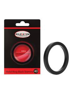 Malesation - Metal Ring schwarz Stamina 40