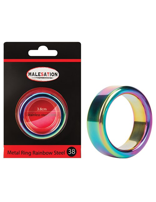 Malesation - Metal Ring Rainbow Steel 38