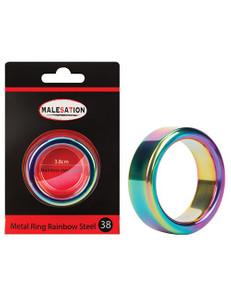 Malesation - Metal Ring Rainbow Steel 38