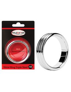 Malesation - Metal Ring Triple Steel 48 Penisring