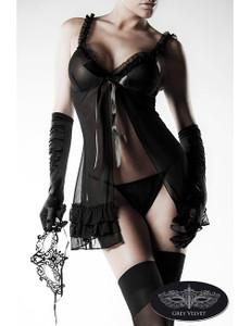 Grey Velvet - 4-teiliges Erotik-Set Secret Girl – Bild $_i