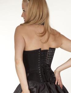 Zugeschnürt Shop - Brust-Korsett Eka (glanz) mit Swarowski-Elements schwarz – Bild $_i