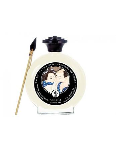 "Shunga - Body Painting Set ""Vanilla & Chocolate"" – Essbare Körpermalfarbe aus weißer Vanille-Schokolade, 100ml"