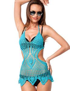 Zugeschnürt Shop - Häkel-Kleid blau – Bild $_i