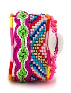Zugeschnürt Shop - Armband pink/gemustert – Bild $_i