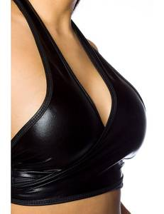 Saresia - Wetlook-Set in Wickeloptik schwarz – Bild $_i