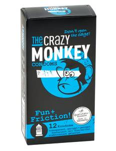 The Crazy Monkey - Kondome Fun + Friction 12 St. Kondome
