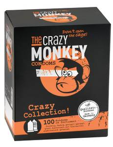 The Crazy Monkey - Kondome Crazy Collection 100 St. Kondome