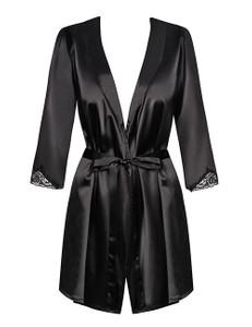 Obsessive - Satinia Robe schwarz – Bild $_i