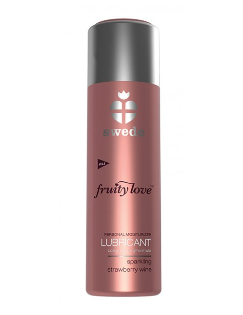 Fruity Love Lubricant Sparkling Strawberry Wine 100 ml | Zugeschnürt Shop