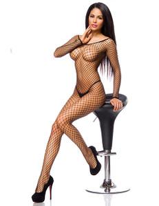 Zugeschnürt Shop - Netz-Bodystocking schwarz – Bild $_i