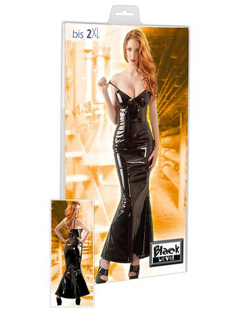 Black Level - Lack Kleid lang schwarz