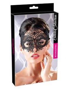 Cottelli Collection - Maske Stickerei schwarz