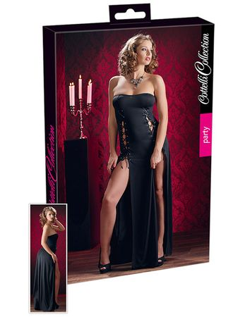 Cottelli Collection - Tubekleid lang schwarz – Bild $_i
