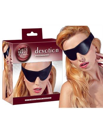 fetish Collection - Lederimitat Augenmaske schwarz – Bild $_i