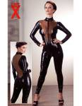 Late X - Latex Catsuit  schwarz 001