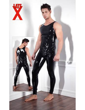 Late X - Latex Overall schwarz