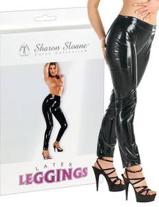 Sharon Sloane - Latex Leggings schwarz