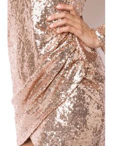 Zugeschnürt Shop - Pailletten-Kleid rosegold – Bild $_i