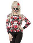 Zugeschnürt Shop - Skulls and Roses Sweatshirt 001