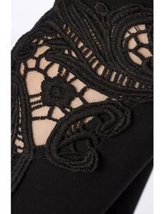 Zugeschnürt-Shop - Leggings mit Spitzeneinsatz schwarz – Bild $_i