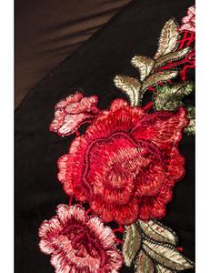 Zugeschnürt-Shop - Blumentop schwarz – Bild $_i