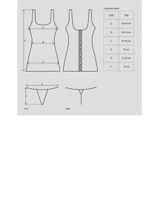 Obsessive - Obsydian Wetlook Kleid schwarz – Bild $_i