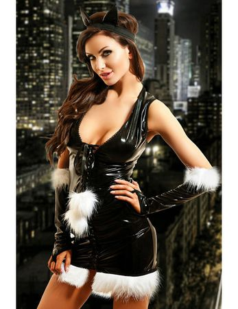 Hamana - Wetlook-Kostüm Kitty Dress H221017M schwarz – Bild $_i