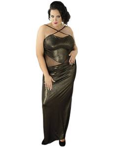 Andalea - langes Wetlook-Kleid C/4001 AN530482M gold – Bild $_i