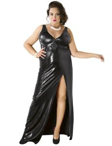 Andalea - schwarzes Wetlook-Kleid C/4005 AN530522M schwarz – Bild $_i