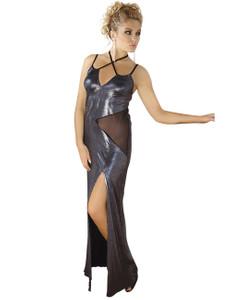 Andalea - langes Wetlook-Kleid M/1069 AN530492M silber – Bild $_i