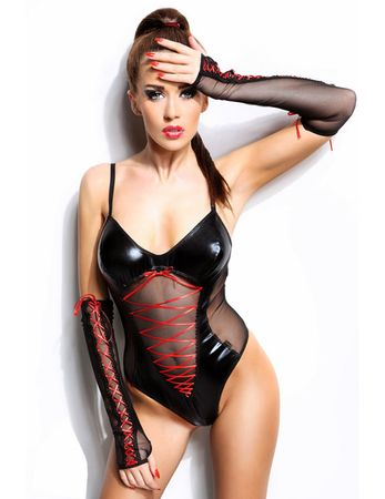 Demoniq - Wetlook-Body Evelyne DE872006M schwarz – Bild $_i