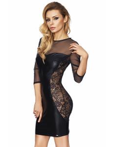 7Heaven - Wetlook-Kleid Arica 7H699062M schwarz – Bild $_i
