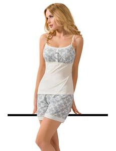 Passion - Pyjama PY070 PA593296M ecru/blau – Bild $_i