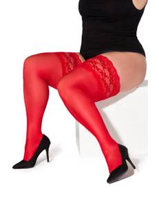 Legg Story - halterlose Strümpfe Paloma  XTra Size LS700339M rot – Bild $_i