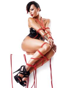 Demoniq - Body Fumi + 2 Seile DE739101M schwarz/rot – Bild $_i