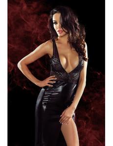 Demoniq - langes Kleid Jacqueline  DE739131M schwarz/gold – Bild $_i
