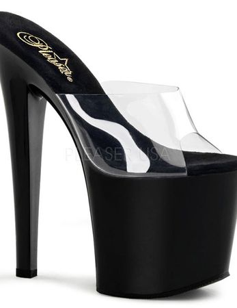 "Pleaser - High Heels ""TABOO-701"" transparent schwarz – Bild 5"