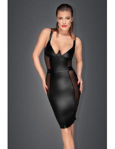 Noir Handmade - Kleid mit transparenten Einsätzen schwarz – Bild $_i