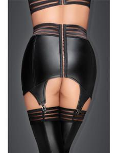 Noir Handmade - Strapsgürtel mit elastischen Bändern schwarz – Bild $_i