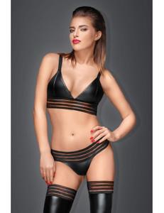 Noir Handmade - Bralette mit elastischen Bändern schwarz – Bild $_i