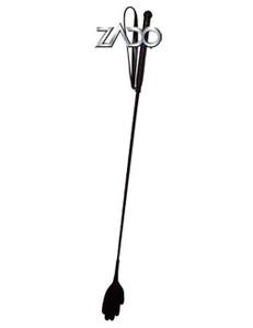 ZADO - Leder-Gerte mit Hand-Klatsche - schwarz