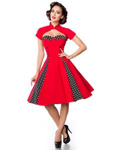 Belsira - Vintage-Kleid mit Bolero rot/schwarz/weiß – Bild $_i