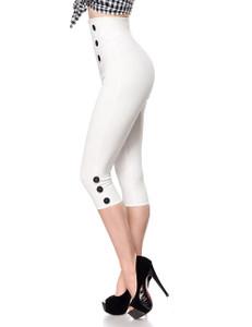 Belsira - figurbetonte Retro-Caprihose weiß – Bild $_i