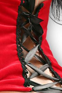Lolitta Dessous - Strapsgürtel Bella rot/schwarz – Bild $_i