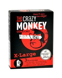 The Crazy Monkey - Condoms X-Large 3 St.