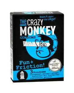 The Crazy Monkey - Condoms Fun + Friction 3 St.