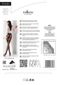 Passion - Strumpfhose mit Muster TI031 schwarz – Bild $_i