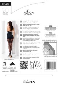 Passion - Strumpfhose mit Muster TI026 schwarz – Bild $_i